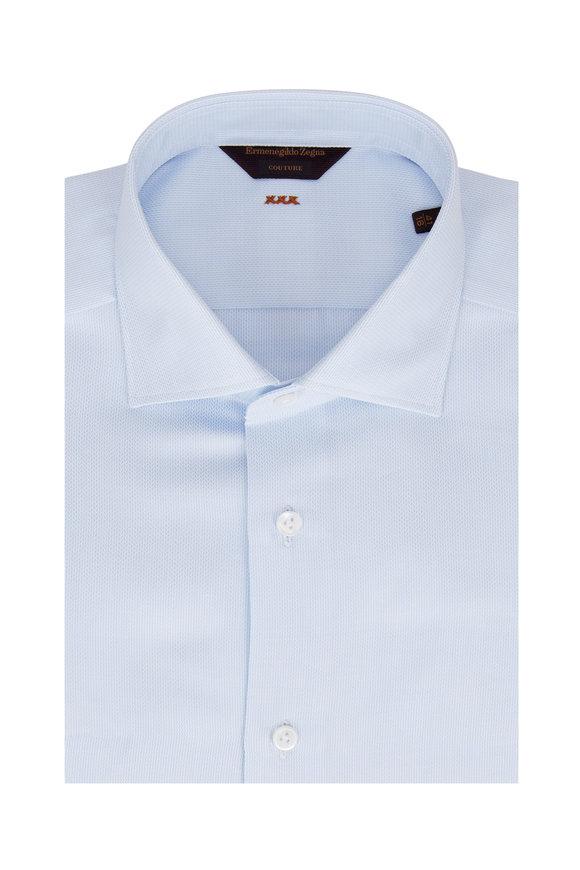 Ermenegildo Zegna Light Blue Textured Dress Shirt