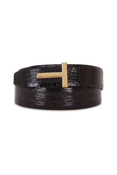 Tom Ford - Black Crocodile Belt