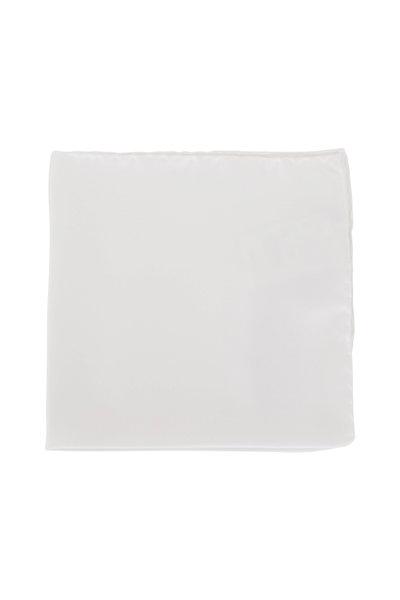Tom Ford - Solid White Pocket Square