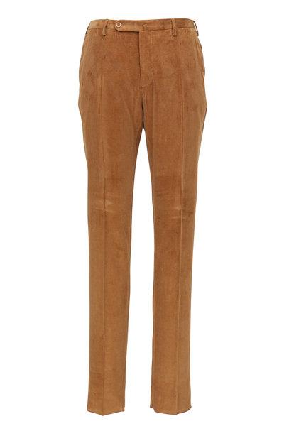 Incotex - Camel Sea Island Corduroy Modern Fit Pant