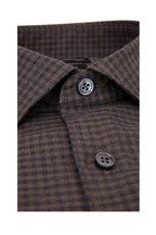 Ermenegildo Zegna - Light Brown & Gray Gingham Sport Shirt