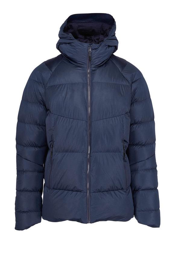 04651/ Mammut Navy Hooded Puffer Jacket