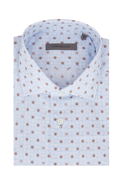 Corneliani - Light Blue Circle Sport Shirt