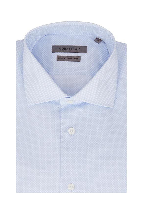 Corneliani  Light Blue Geometric Sport Shirt