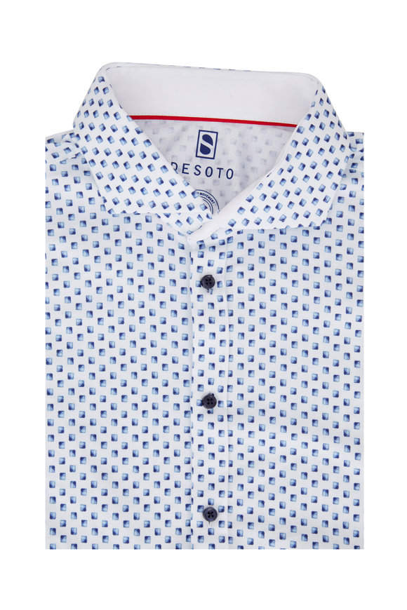 Desoto Navy Blue Square Sport Shirt