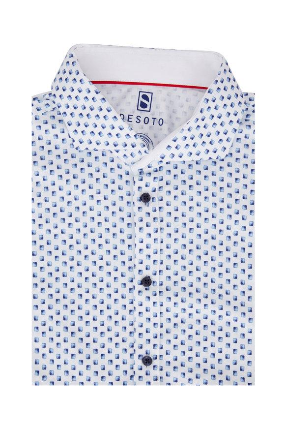 Desoto Navy Blue Square Sport Shirt