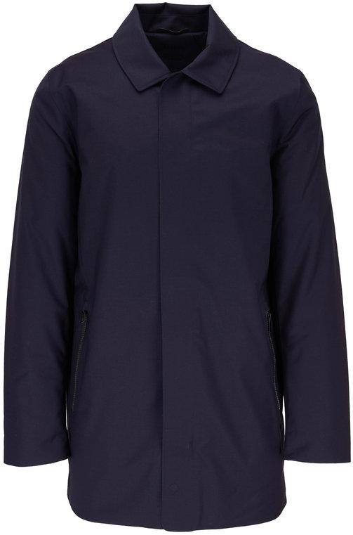 UBR Regulator Navy Blue Wool Coat