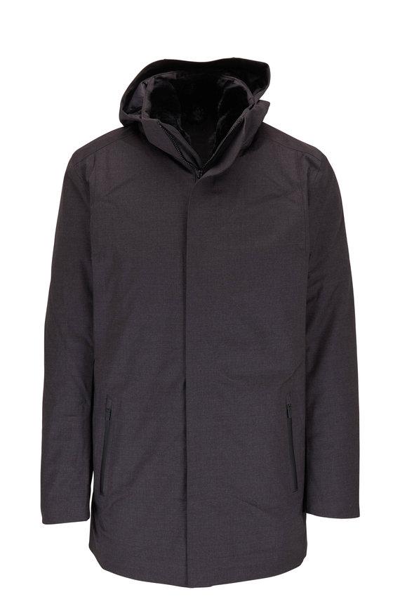 Savile Dark Gray Wool Hooded Parka