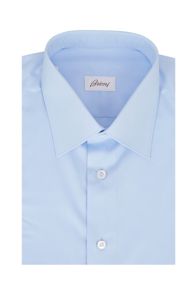 Brioni - Solid Sky Blue Dress Shirt