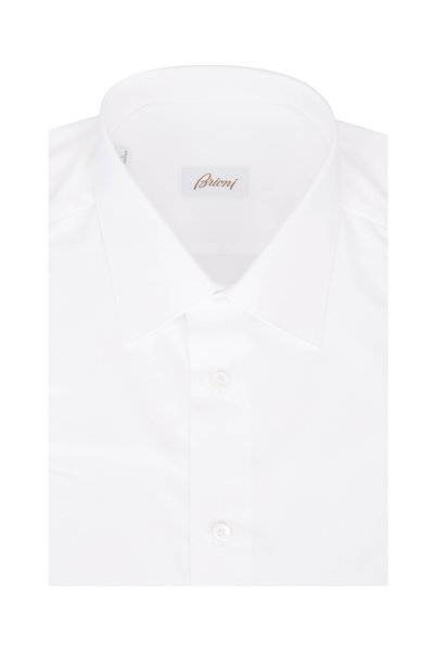Brioni - Solid White Dress Shirt