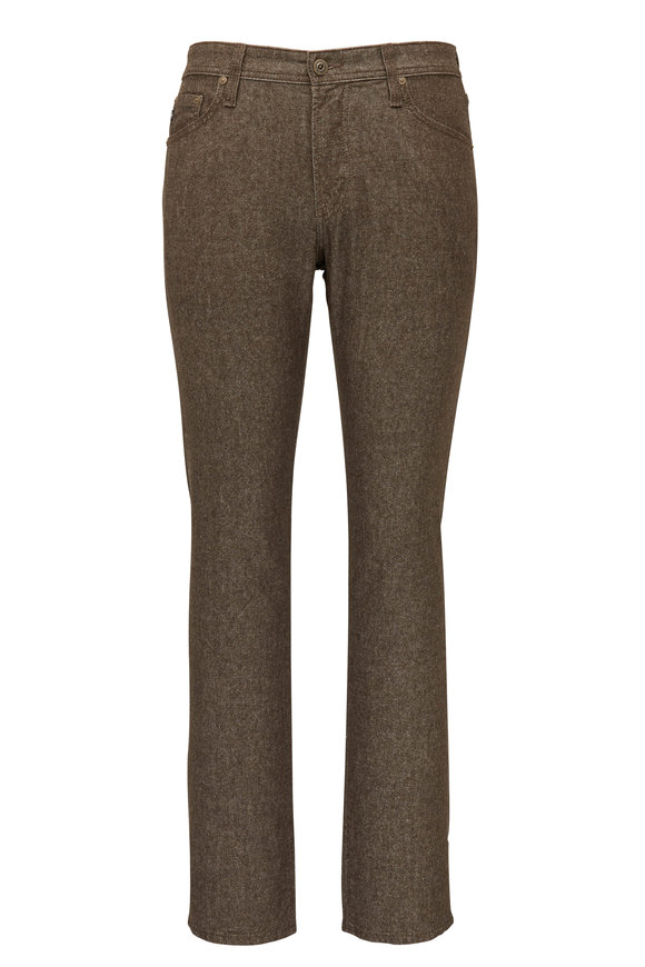 AG - Adriano Goldschmied The Graduate Brown Flannel Tailored Leg Jean