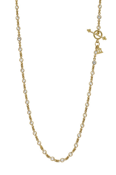 Temple St. Clair - 18K Yellow Gold White Sapphire Chain