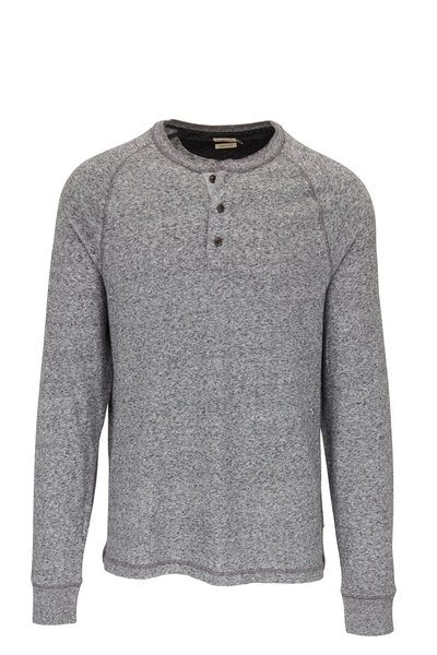Faherty Brand - Luxe Heather Gray Long Sleeve Henley