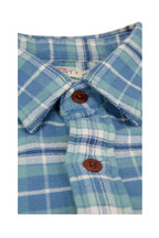 Faherty Brand - Seaview Blue Plaid Flannel Sport Shirt