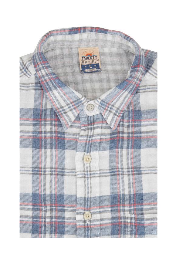 Faherty Brand Reversible Heather Plaid Sport Shirt