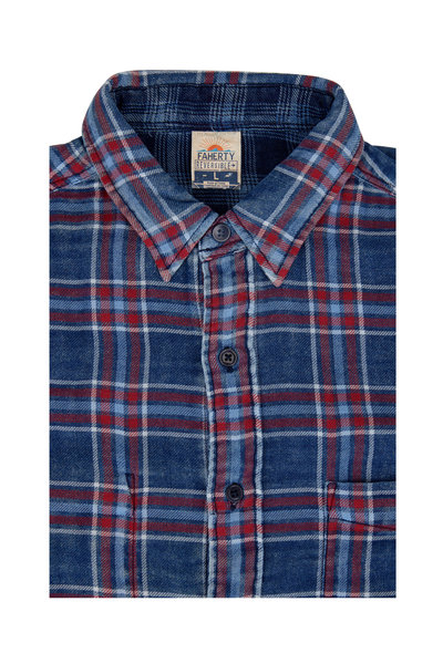 Faherty Brand - Reversible Indigo Plaid Sport Shirt