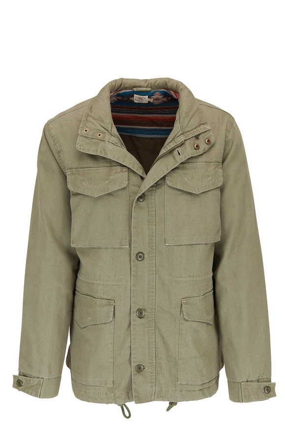 Faherty Brand M65 Military Green Surplus Jacket