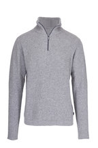 04651/ - Troyer Gray Bouclé Quarter-Zip Pullover
