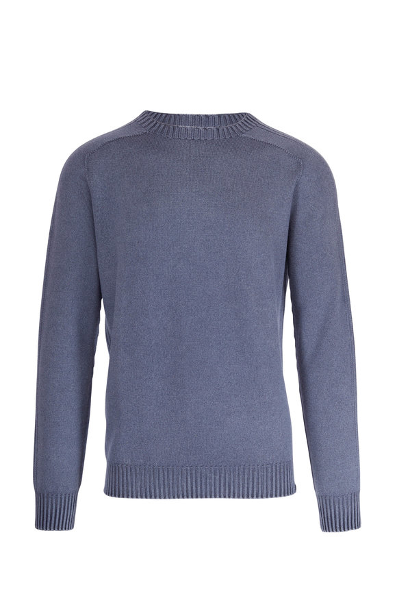 04651/ Foggy Navy Crewneck Wool Pullover