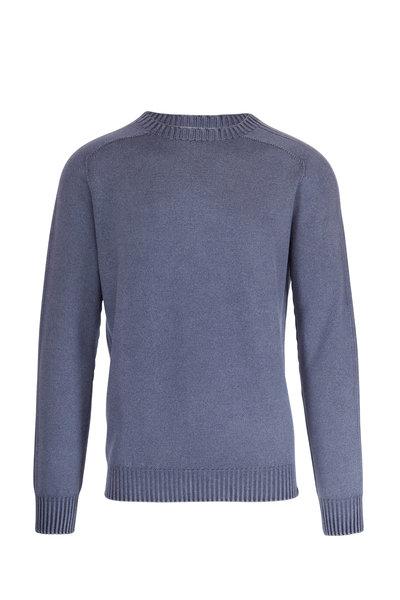 04651/ - Foggy Navy Crewneck Wool Pullover
