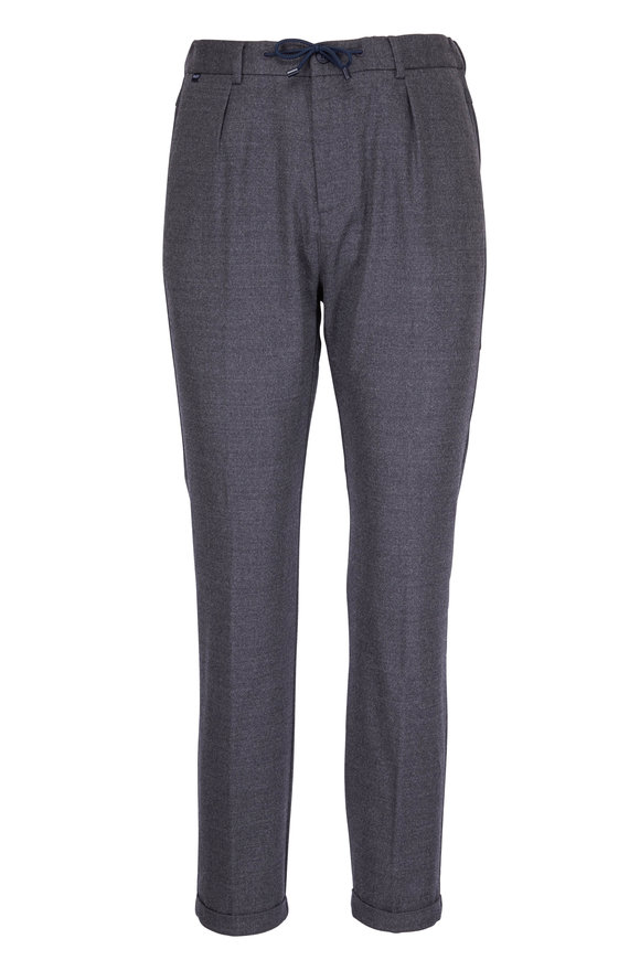 04651/ Smart Gray Flannel Jogging Pant