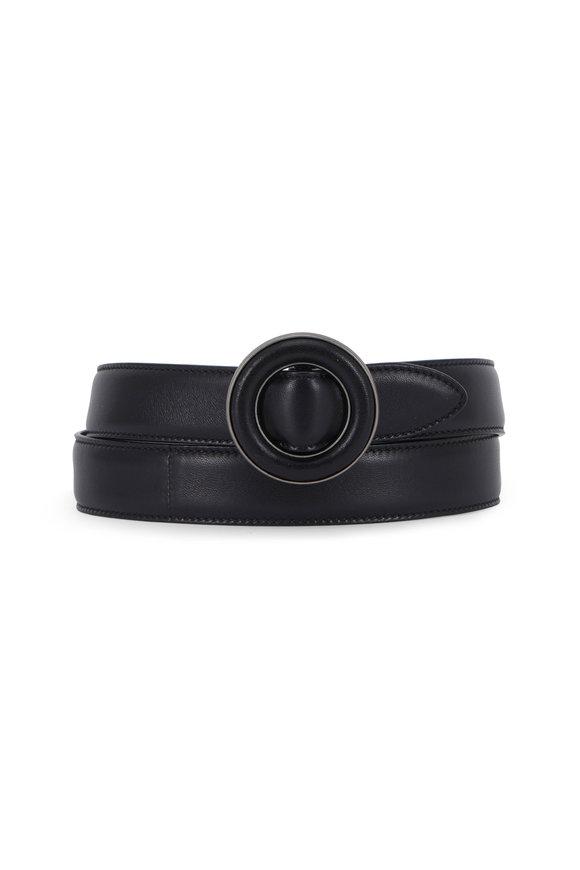Saint Laurent Sinatra Black Lambskin Leather Belt