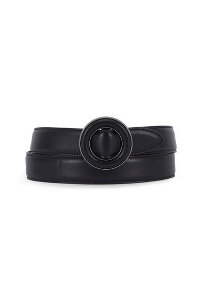 Saint Laurent - Sinatra Black Lambskin Leather Belt
