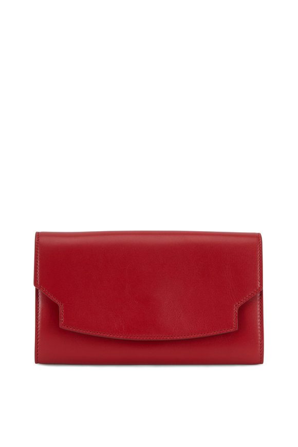 The Row Lady Ruby Red Softbox Wallet