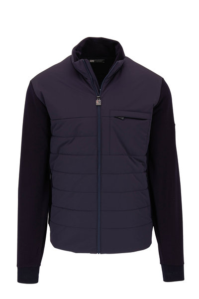 Z Zegna - Navy Blue Techmerino Wool & Quilted Nylon Jacket