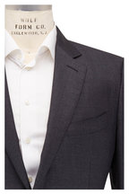 Tom Ford - Charcoal Gray Sharkskin Wool Three Piece Suit