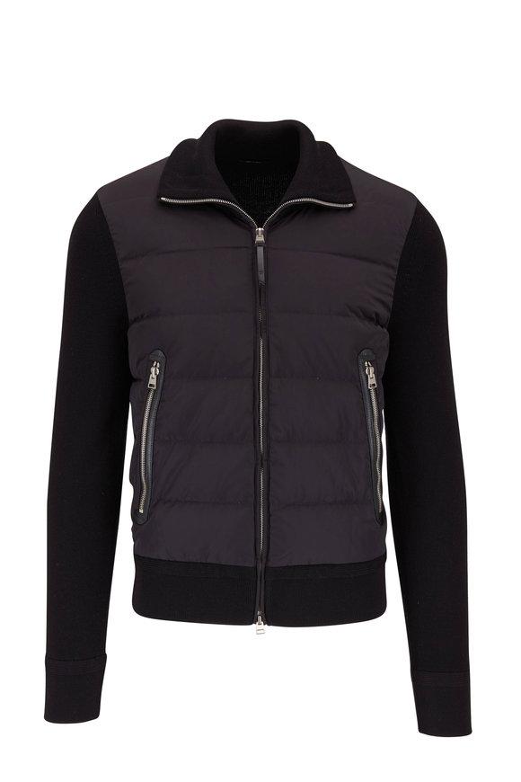 Tom Ford Dark Gray Front Zip Wool Sweater Jacket