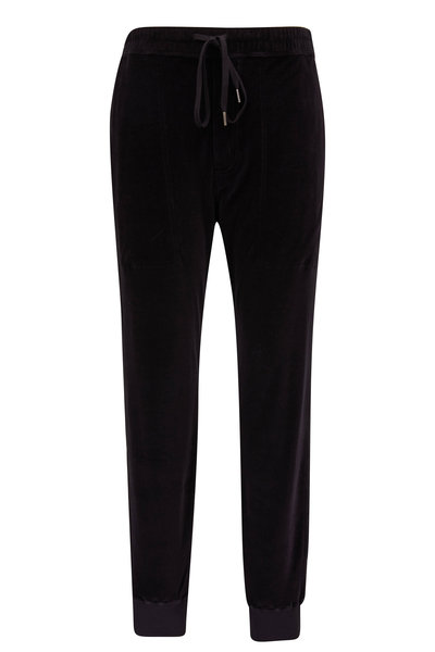 Tom Ford - Alpha Black Velour Jogger Pant