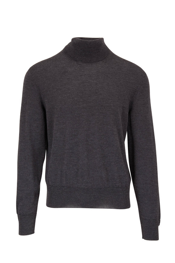 Tom Ford Charcoal Gray Cashmere & Silk Turtleneck