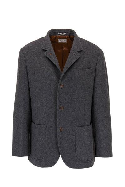Brunello Cucinelli - Charcoal Gray Cashmere Jacket