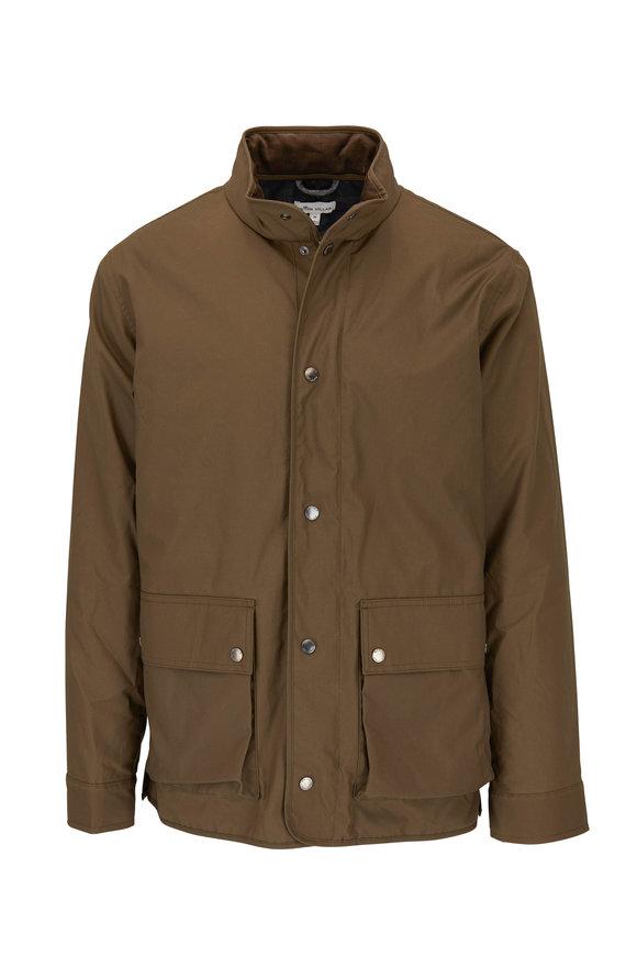 Peter Millar Olive Green Waxed Cotton Field Jacket