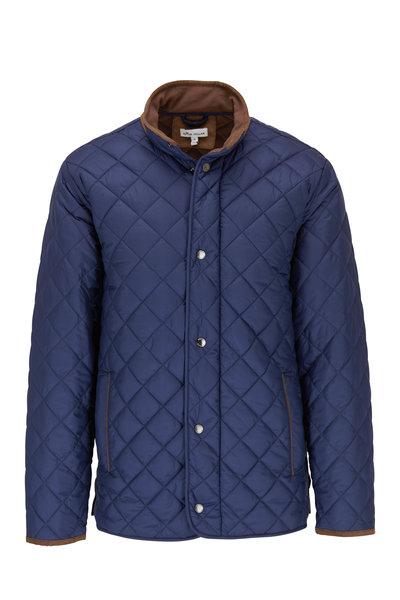 Peter Millar - Suffolk Navy Quilted Travel Jacket