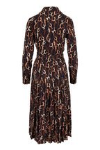 Michael Kors Collection - Suntan Multi Silk Modern Dance Print Shirtdress
