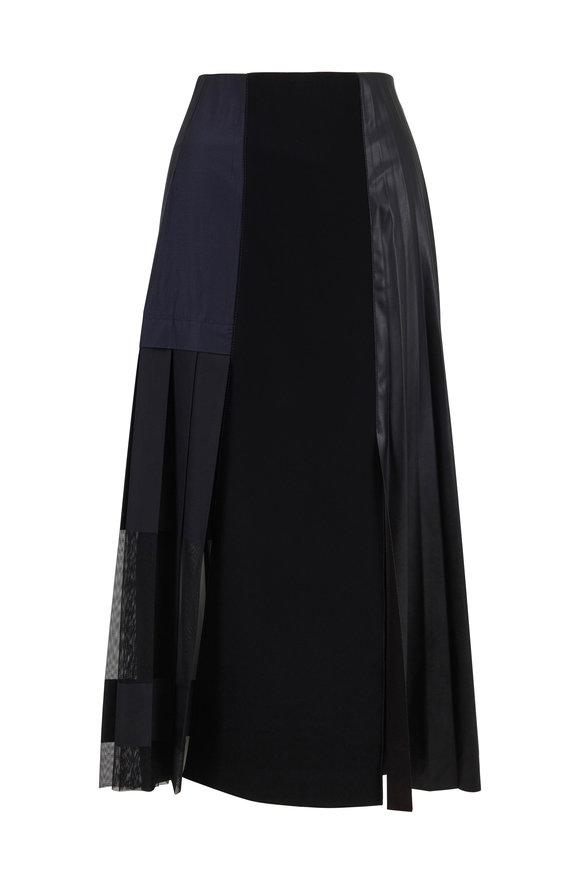 Dorothee Schumacher Modern Gloss Black Front Zip Sleeveless Skirt
