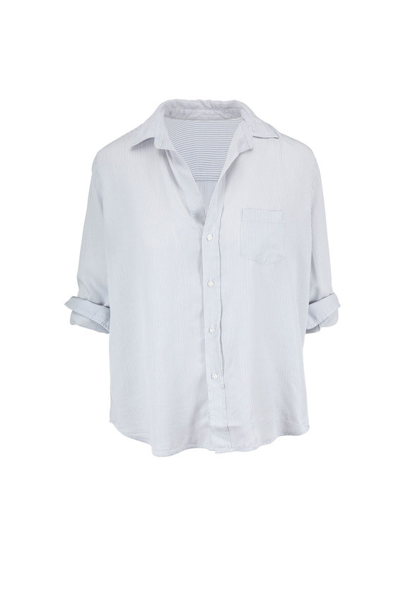 Frank & Eileen Eileen Gray & White Stripe Button Down