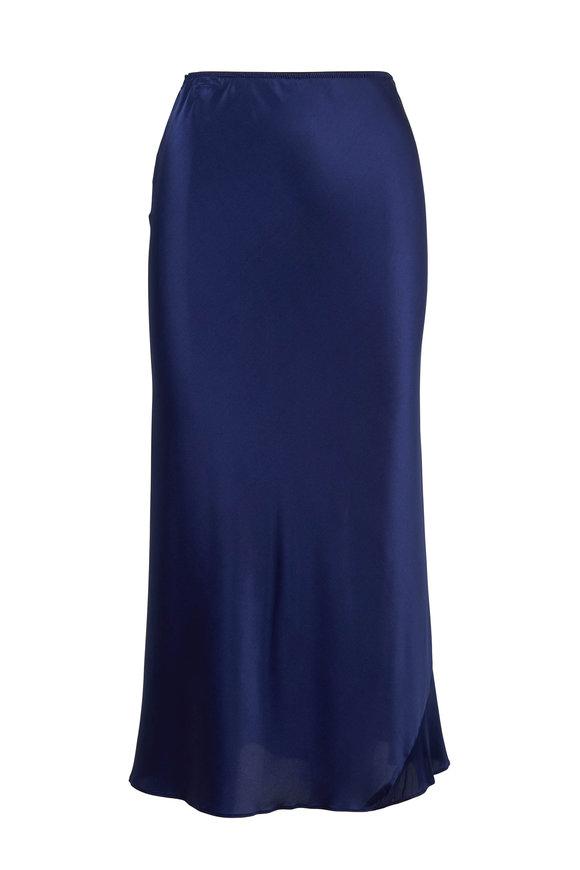 Dorothee Schumacher Shimmering Mystery Blue Pull-On Skirt