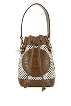 Fendi - Mon Tresor Brown & White Perforated Mini Bag