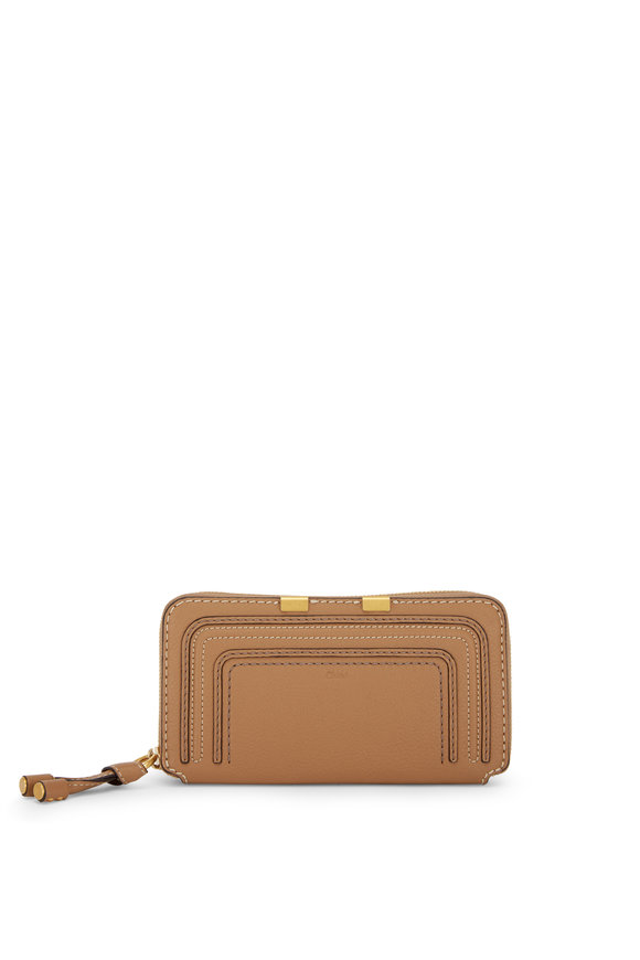 Chloé Marcie Nutmeg Leather Zip-Around Wallet
