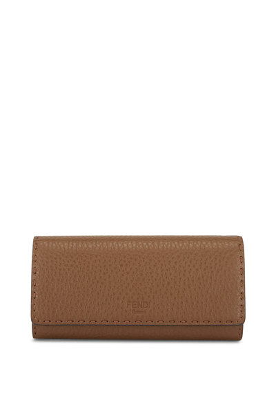 Fendi - Mudd Leather Continental Wallet