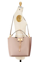 Valentino Garavani - Go Logo Escape Poudre Leather Hobo Bag