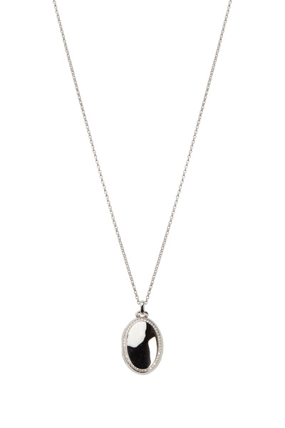 Monica Rich Kosann - White Gold White Diamond Locket Necklace