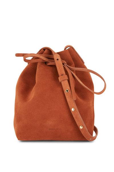 Mansur Gavriel - Rust Suede Mini Bucket Bag
