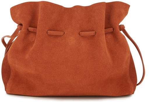 Mansur Gavriel Protea Rust Suede Medium Bucket Bag
