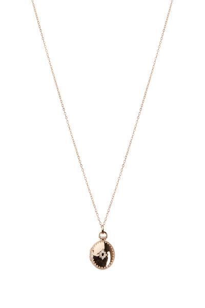 Monica Rich Kosann - Rose Gold Petite Snowflake Locket Necklace