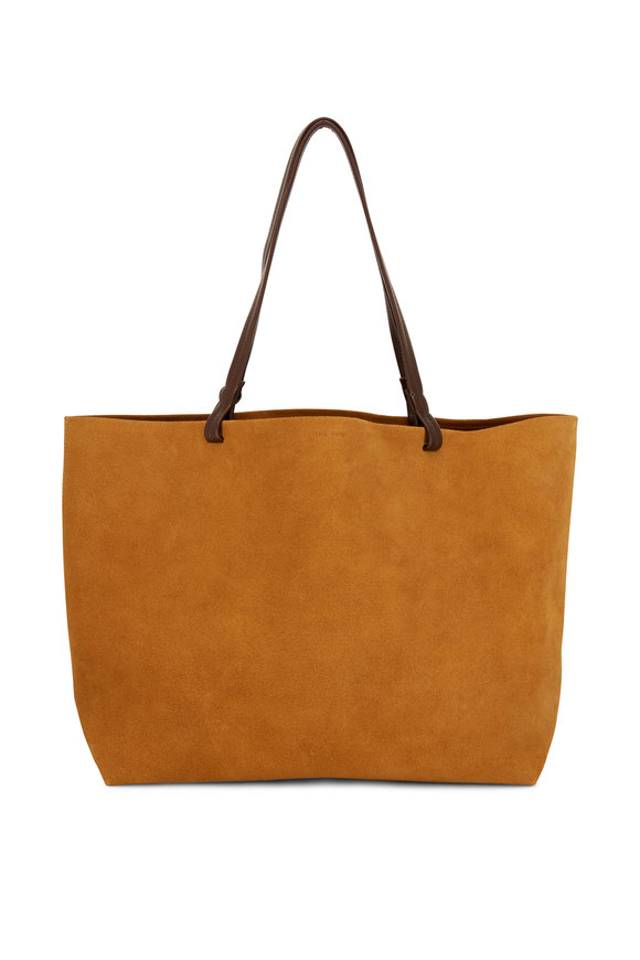 The Row Park Lux Marraca Cognac Suede Tote