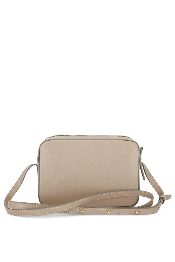 Mansur Gavriel Double-Zip Elefante Saffiano Small Crossbody Bag